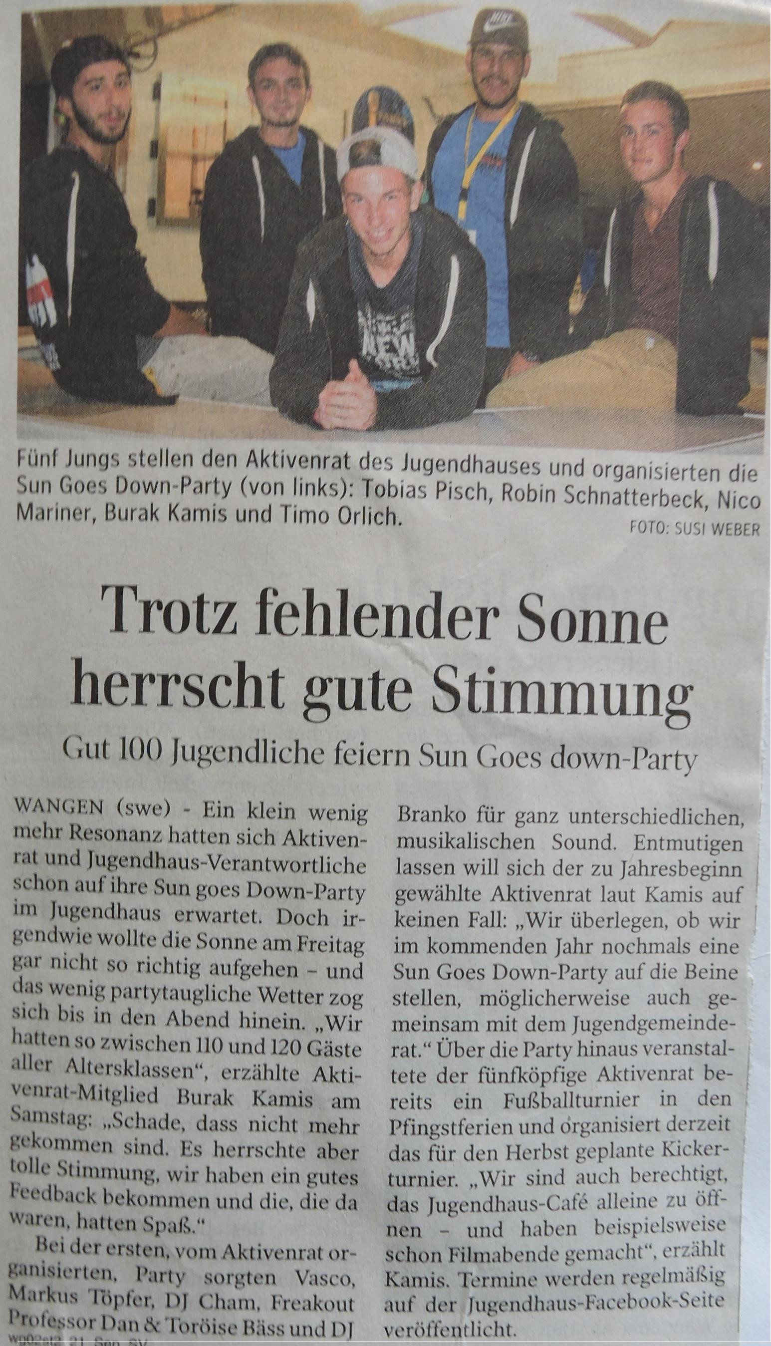 15-09-21 Party Nachbericht