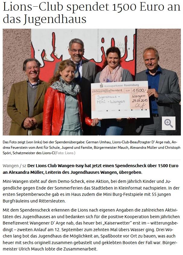 15-10-01 Lions Club Scheckübergabe