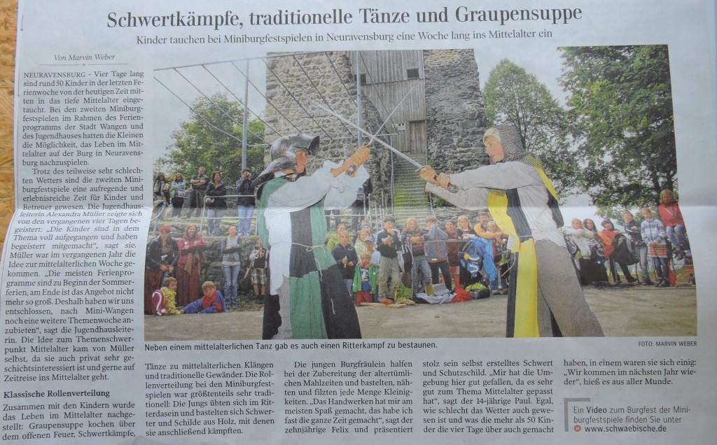 Artikel Miniburgfestspiele