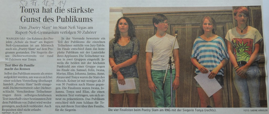 Artikel Poetry Slam Sieger