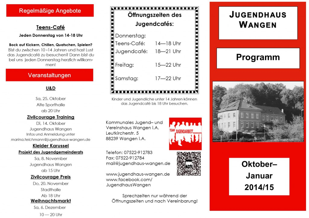 Kinderprogramm Okt.- Jan. 14-15