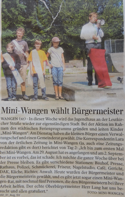 Mini Wangen Tag2