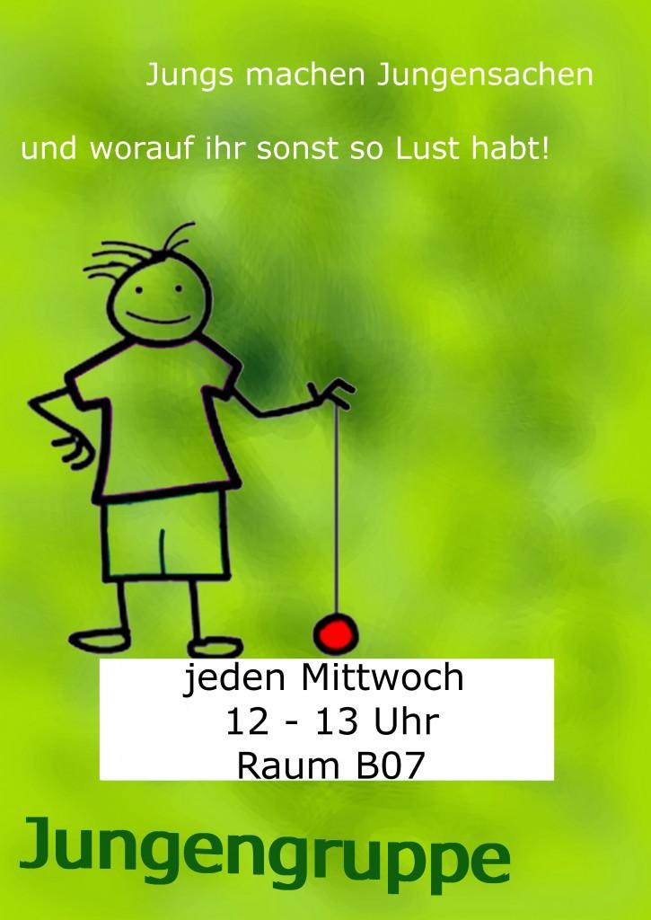 Plakat mit Datum Jungengruppe A3