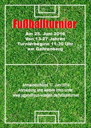 Fußballturnier Flyer
